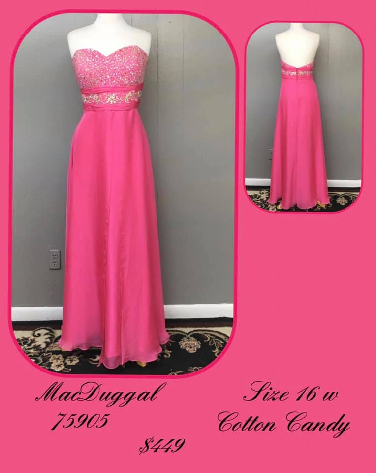 Queenly size 16 Mac Duggal Pink A-line evening gown/formal dress