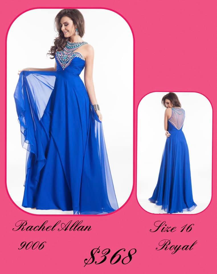 Rachel Allan Blue Size 16 Backless Tall Height A-line Dress on Queenly