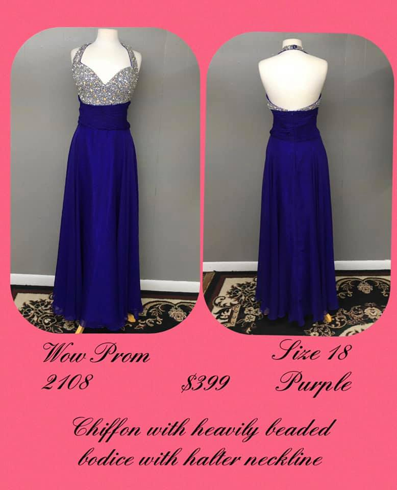 Queenly size 18 Wow Purple A-line evening gown/formal dress