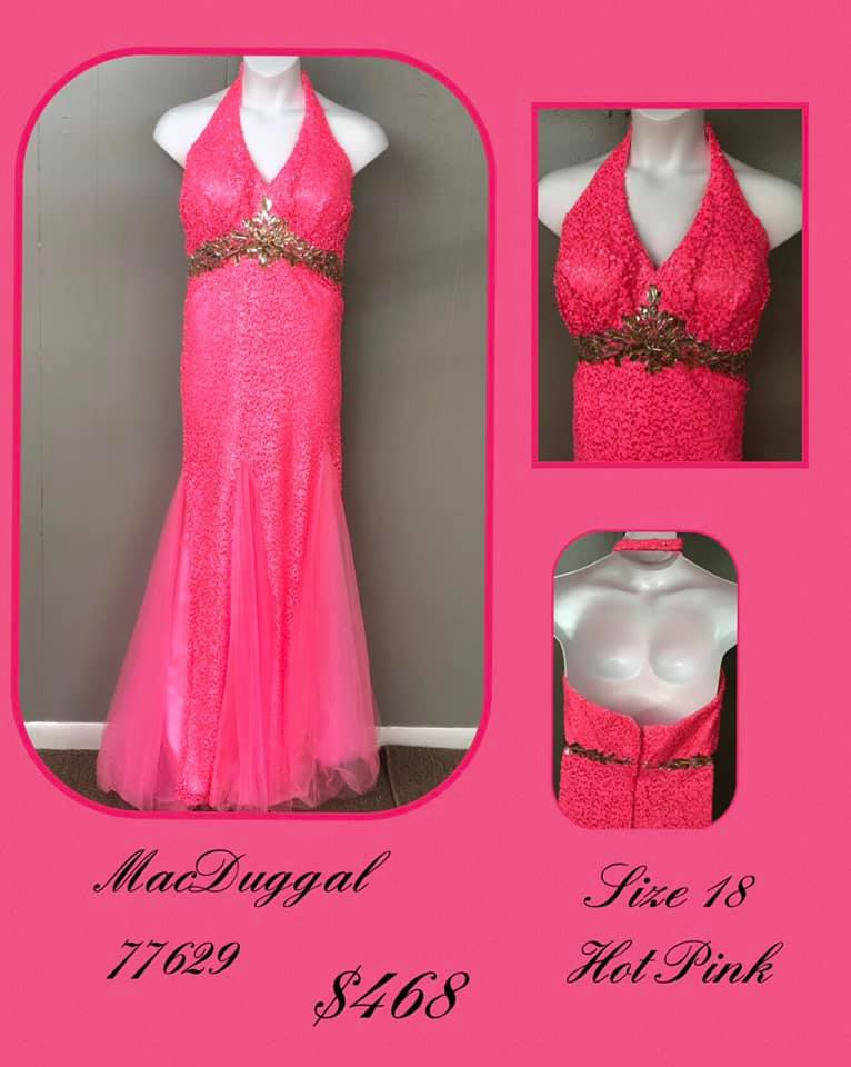 Queenly size 18 Mac Duggal Pink A-line evening gown/formal dress