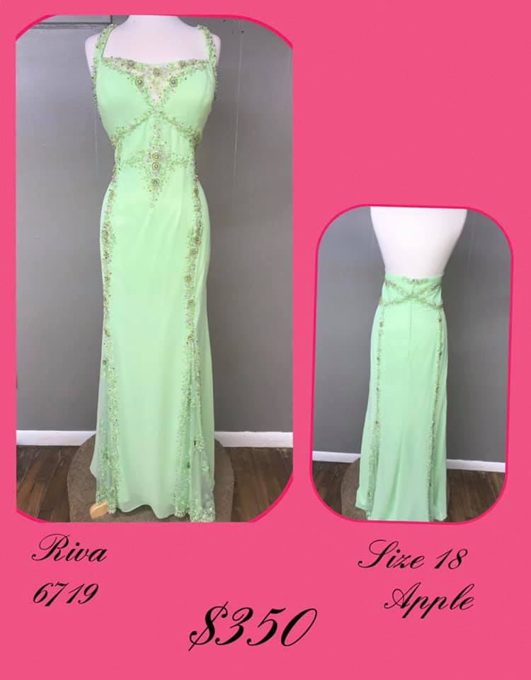 Queenly size 18 Riva Green A-line evening gown/formal dress