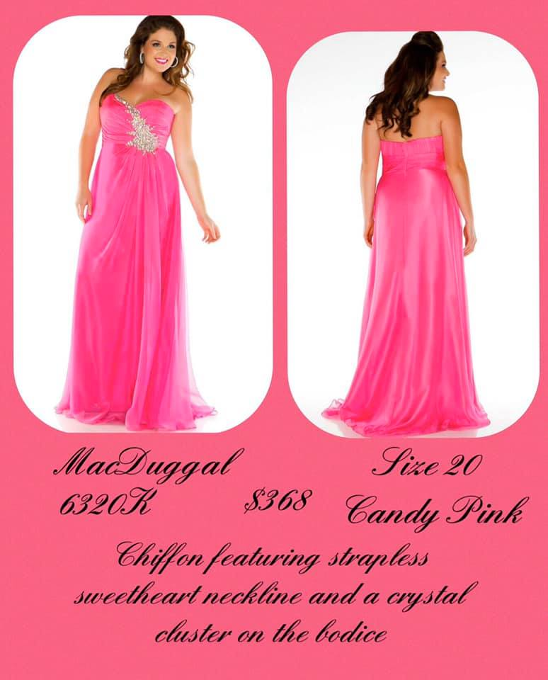 Queenly size 20 Mac Duggal Pink A-line evening gown/formal dress