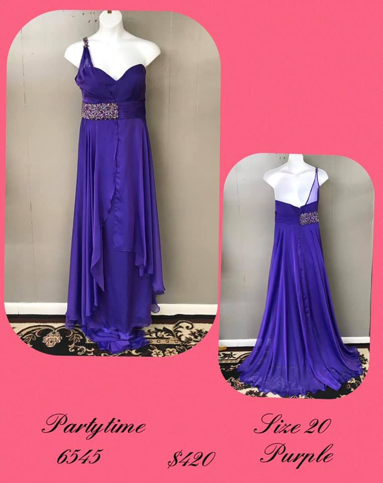 Queenly size 20 Party Time Formals Purple A-line evening gown/formal dress