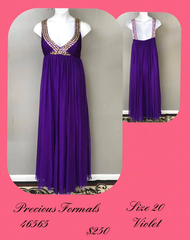 Queenly size 20 Precious Formals Purple A-line evening gown/formal dress
