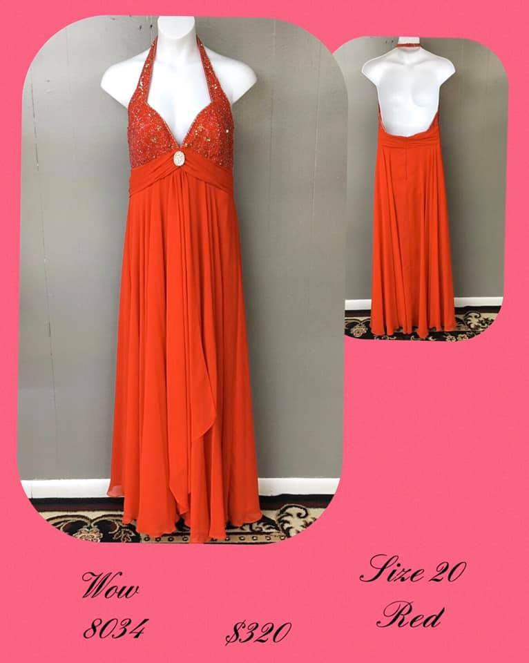 Queenly size 20 Wow Red A-line evening gown/formal dress