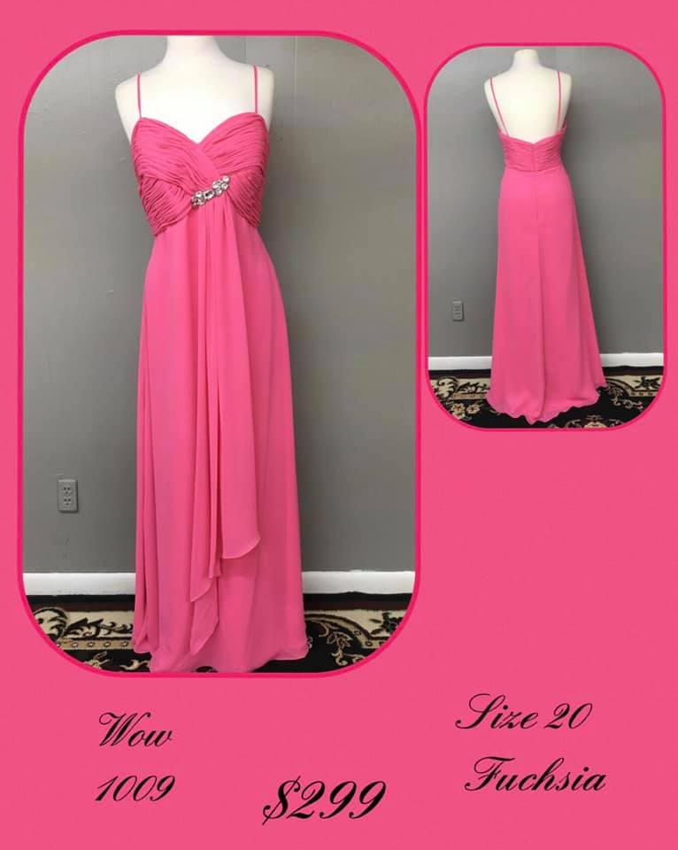 Queenly size 20 Wow Pink A-line evening gown/formal dress