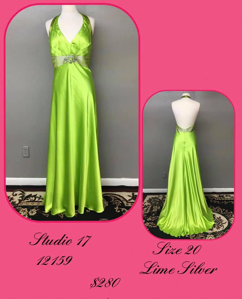 Queenly size 20 Studio 17 Green A-line evening gown/formal dress