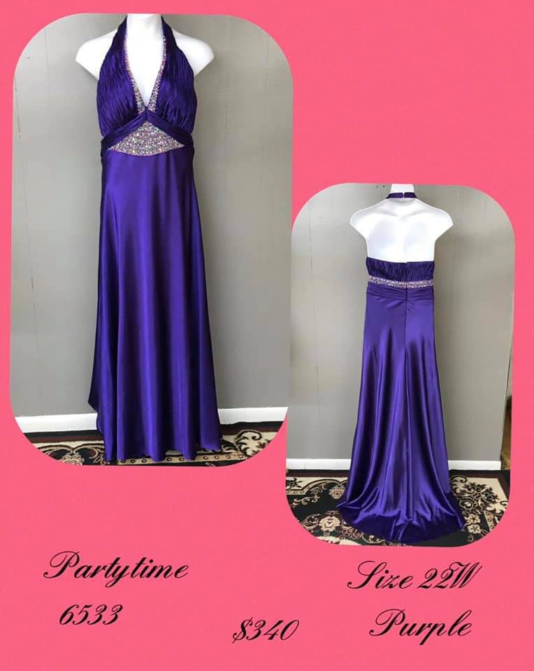 Queenly size 22 Party Time Formals Purple A-line evening gown/formal dress
