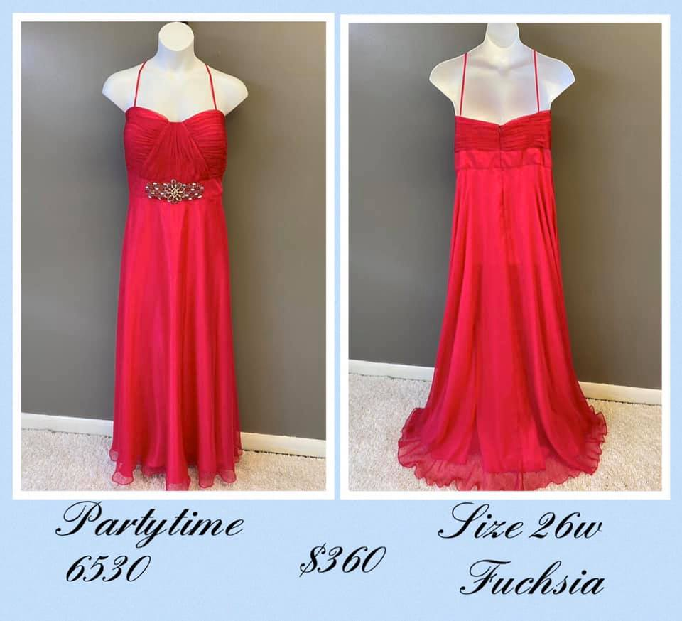 Queenly size 26 Party Time Formals Pink A-line evening gown/formal dress