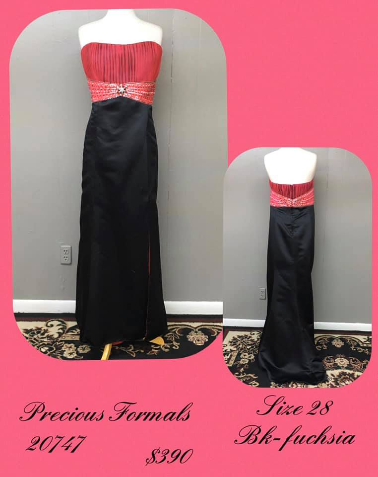 Queenly size 28 Precious Formals Black A-line evening gown/formal dress