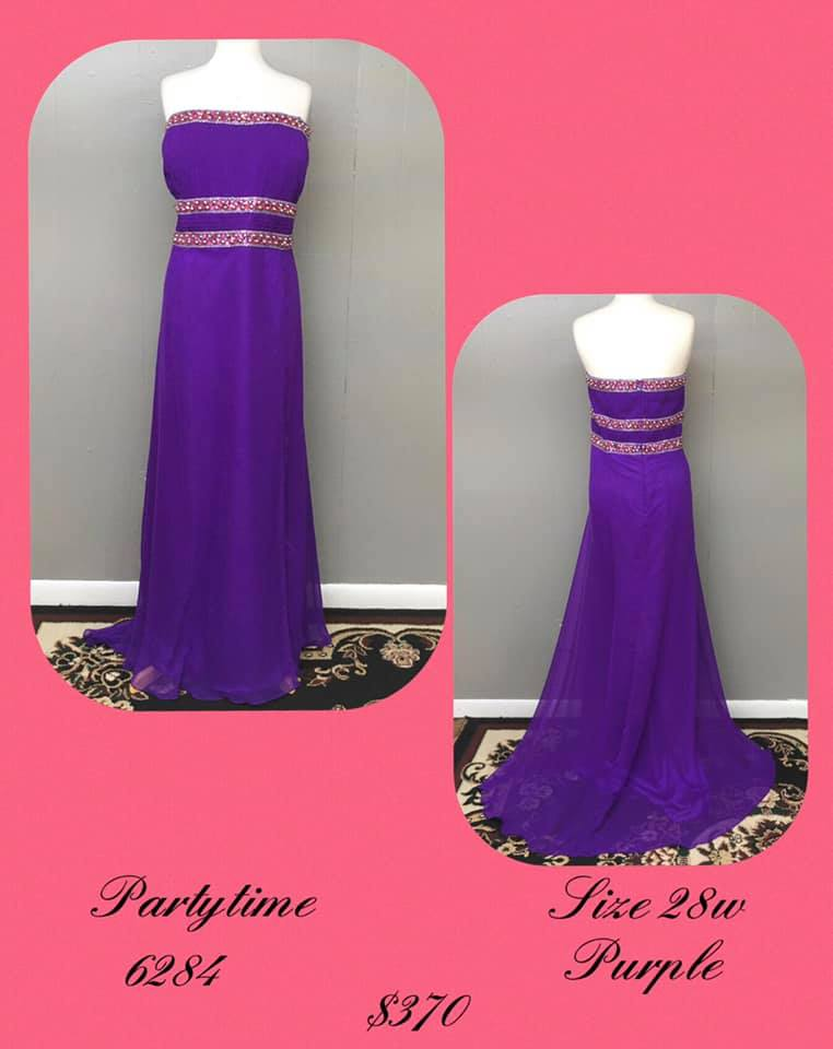 Queenly size 28 Party Time Formals Purple A-line evening gown/formal dress