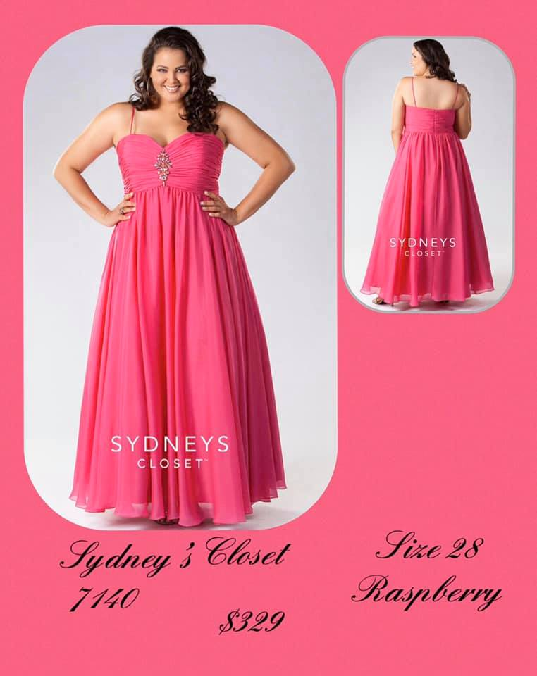 Queenly size 28 Sydney's Closet Pink A-line evening gown/formal dress