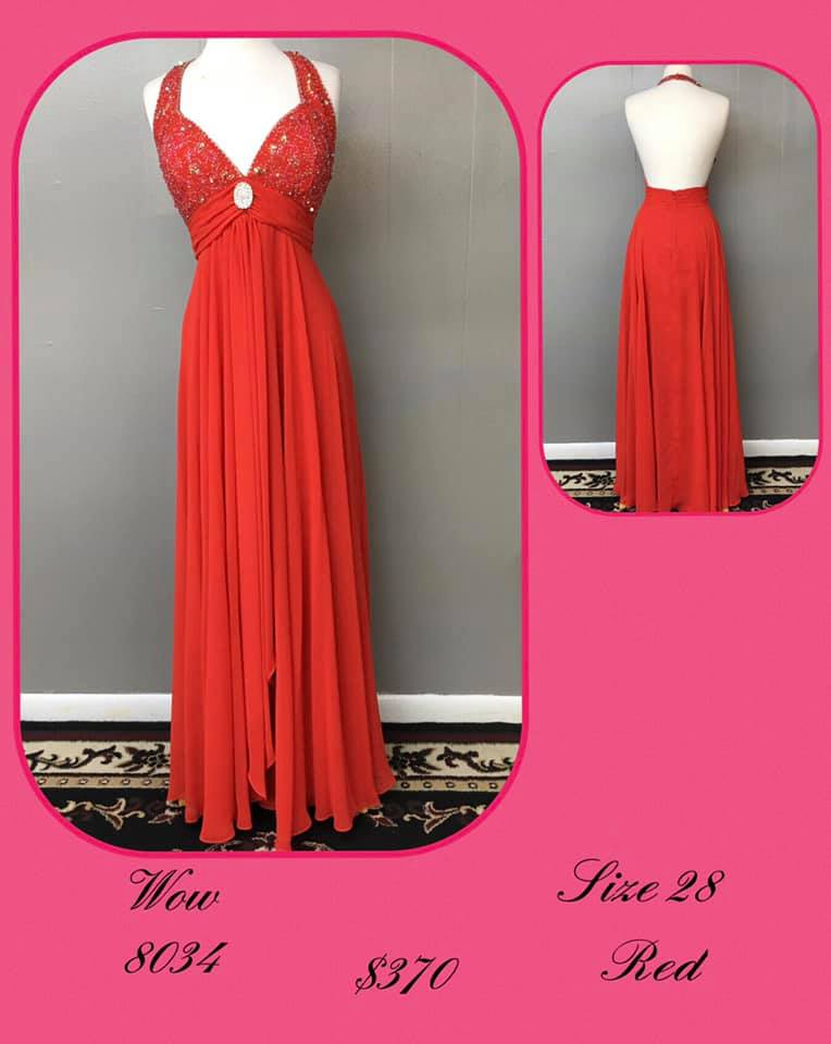 Queenly size 28 Wow Red A-line evening gown/formal dress