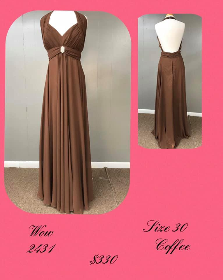 Queenly size 30 Wow Prom Nude A-line evening gown/formal dress