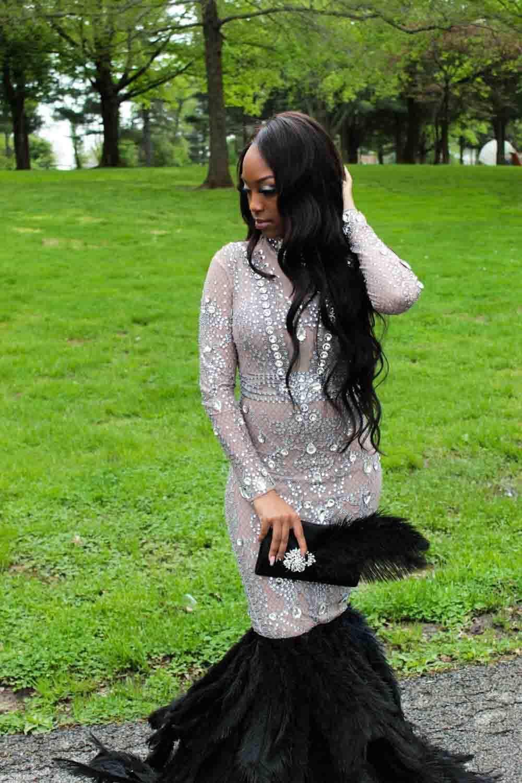 Custom Made  Multicolor Size 4 Long Sleeve Sleeves Custom Mermaid Dress on Queenly