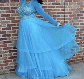 Queenly size 14 Angela & Alison Blue Ball gown evening gown/formal dress