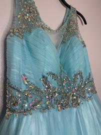 Queenly size 18 Milano Formals Blue Ball gown evening gown/formal dress