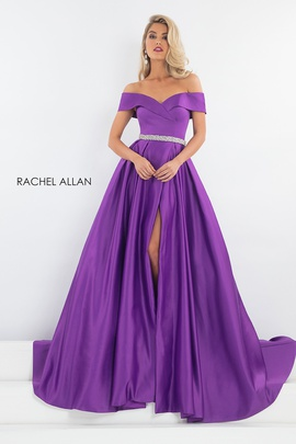 Queenly size 0 Rachel Allan Purple A-line evening gown/formal dress