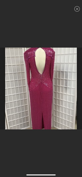 Red Size 8 Straight Dress on Queenly