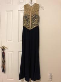 Blue Size 0 Side slit Dress on Queenly