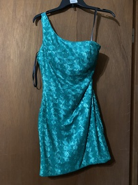 Queenly size 4 Milano Formals Green Straight evening gown/formal dress