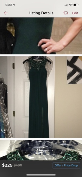 Green Size 0 Side slit Dress on Queenly