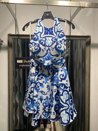 Queenly size 10 Terani Couture Blue Cocktail evening gown/formal dress