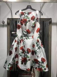 Terani Couture Red Size 8 Floral Cocktail Dress on Queenly