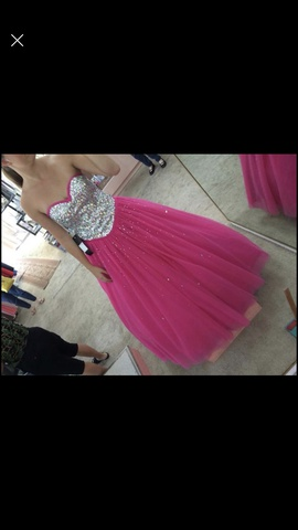 Queenly size 6  Pink Ball gown evening gown/formal dress
