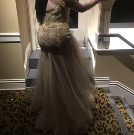 Gold Size 16 Mermaid Dress on Queenly