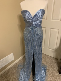 Tony Bowls Blue Size 0 Sweetheart Tall Height Side slit Dress on Queenly