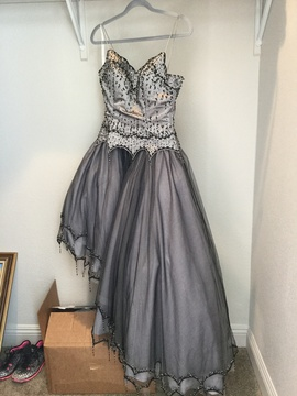 Queenly size 8  Silver Ball gown evening gown/formal dress