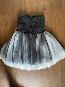 Betsey Johnson Black Size 12 Tulle Strapless Plus Size Cocktail Dress on Queenly