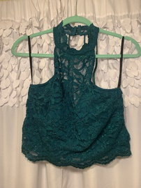 Queenly size 16 B. Darlin Green Side slit evening gown/formal dress