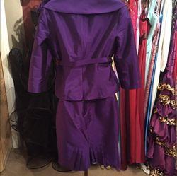 Jovani Purple Size 4 Belt A-line Dress on Queenly