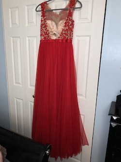Sherri Hill Red Size 8 Prom Short Height Lace A-line Dress on Queenly