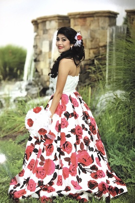 Rachel Allan Multicolor Size 0 Floral Quinceanera Short Height Ball gown on Queenly