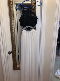 Speechless White Size 4 Ivory Cut Out Lace Black A-line Dress on Queenly