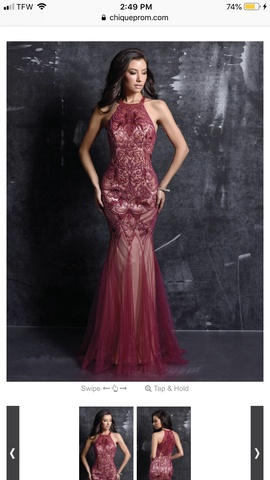 Queenly size 8 Nina Canacci Red Mermaid evening gown/formal dress