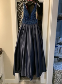 Vienna Blue Size 10 Pockets Ball gown on Queenly