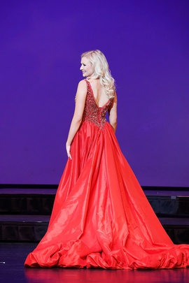 Mac Duggal Red Size 6 Corset Custom Train Dress on Queenly