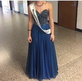 Studio17 Blue Size 0 Strapless Homecoming Ball gown on Queenly