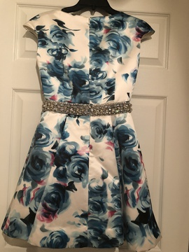 Jovani Blue Size 0 Cocktail Dress on Queenly