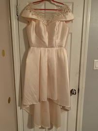 Queenly size 12  Nude A-line evening gown/formal dress