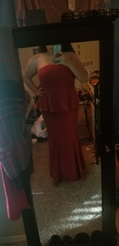 Queenly size 16  Red Mermaid evening gown/formal dress