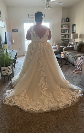 Maggie Sottero White Size 24 Wedding Lace A-line Dress on Queenly