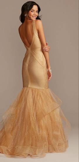 Gold Size 16 Ball gown on Queenly