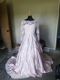 Custom  Pink Size 8 Short Height Train Dress on Queenly