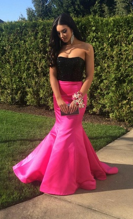 Sherri Hill Hot Pink Size 6 Tall Height Mermaid Dress on Queenly