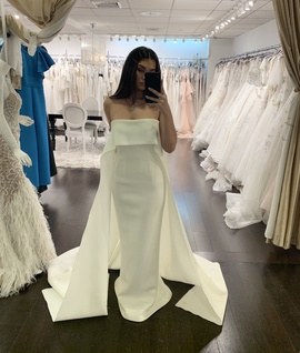Jovani White Size 4 Belt Tall Height Mermaid Dress on Queenly